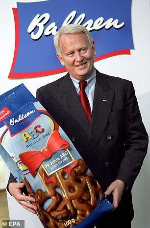 Verena Bahlsen is one of four children of company owner Werner Bahlsen(pictured)