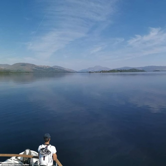 Loch Lomond looked stunning under blue skies today as Scotland experienced the warmest day of the year so far