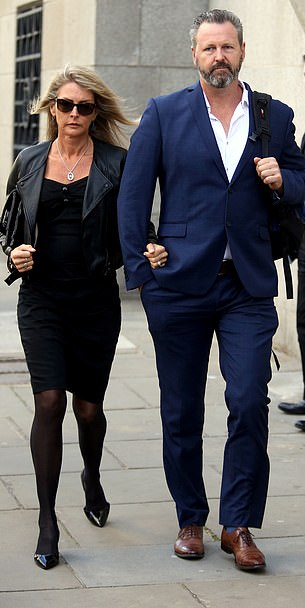 Ms Zelenak's parents Julie, 52, and Mark Wallace, 51, are pictured at the Old Bailey on Monday