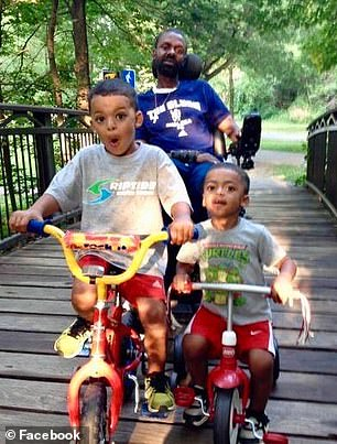 Tessie had gone in for a routine check-up in May 2017 when her doctor noticed that her blood work seemed unusual. Pictured: John with his two sons, Gus (left) and Freddy (right)