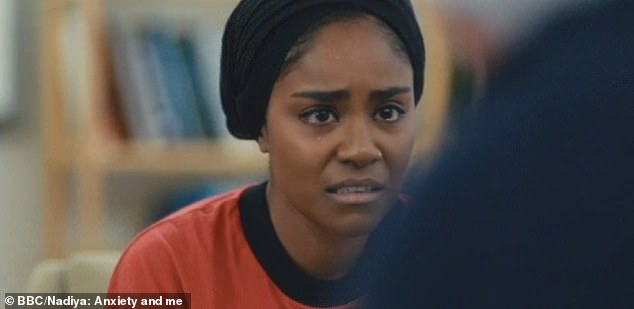 Bake Off winner Nadiya Hussain, 34, from Luton, filmed her therapy sessions for the BBC documentary Anxiety and Me, which aired tonight at 9pm