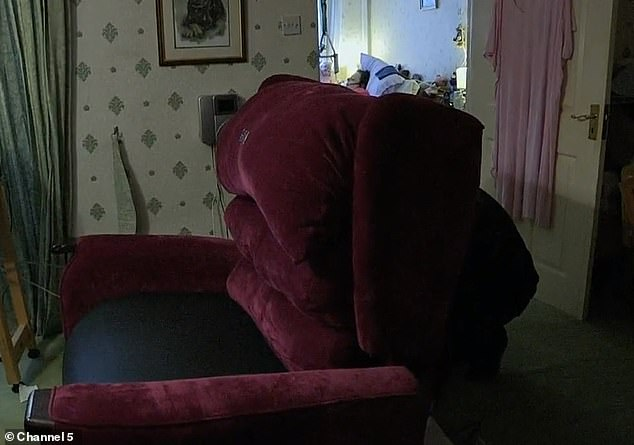 The £8,000 custom-made chair ordered by Eddie for Denise, which sat in the living-room and was only used once before she died