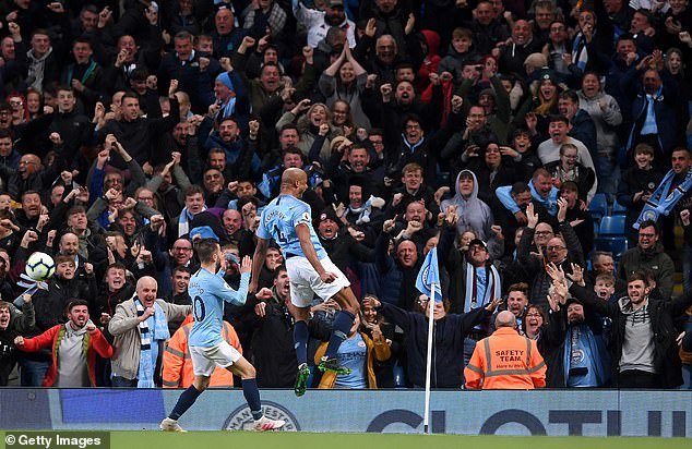 Vincent Kompany scored a thunderbolt which was vital as City chased down successive titles