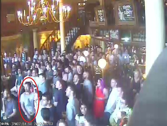 CCTV shows the 32-year-old entrepreneur James McMullan out with friends in the Barrowboy and Banker pub watching football on the evening of June 3 2017 when the London Bridge terrorist attack happened