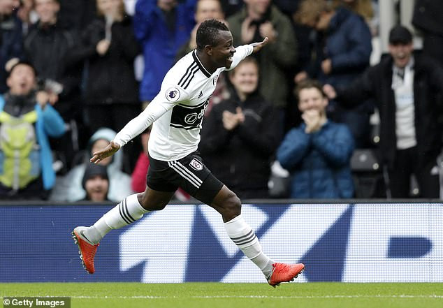 Jean Michael Seri scored with his first shot on target in the Premier League back in August