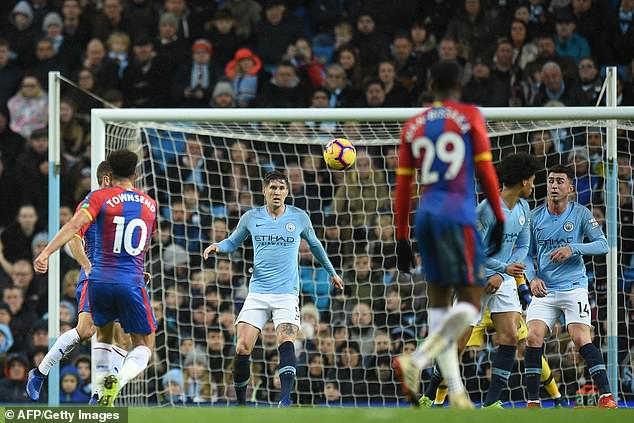 Andros Townsend struck one of the best goals of his career as Crystal Palace stunned Man City
