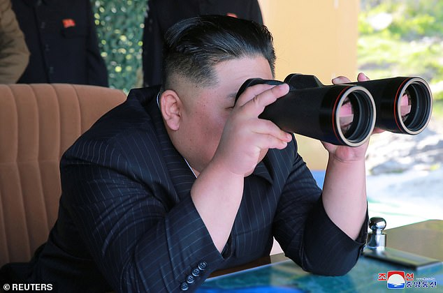 North Korea's leader Kim Jong Un supervises a military drill in North Korea, in this May 10, 2019 photo supplied by the Korean Central News Agency (KCNA)