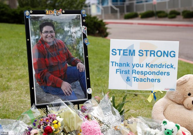 Police have hailed Castillo for saving his classmates' lives after he threw himself on one of the shooters last week