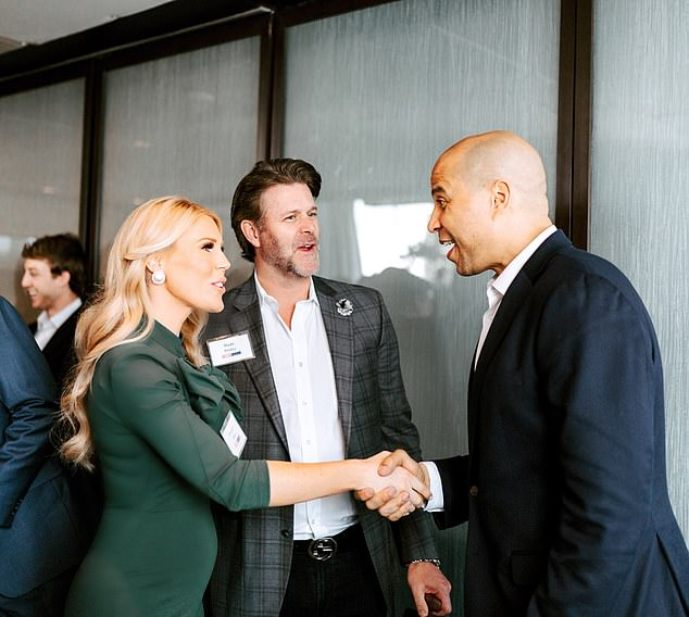 The star has been seen at events with Sen Booker as he does his rounds to promote fertility access, but they had not formally spoken to work together. But Gretchen revealed that changed moments before arriving to record for The Doctors