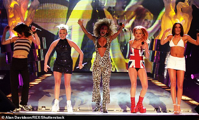 Pop icons! British band The Spice Girls (pictured in 1997) are known for hits including Wannabe and Stop, and are touring the UK and Ireland