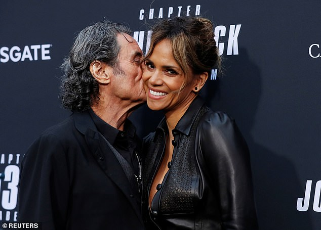 Ian and Halle: Ian McShane poses with Halle Berry at the John Wick 3: Parabellum premiere