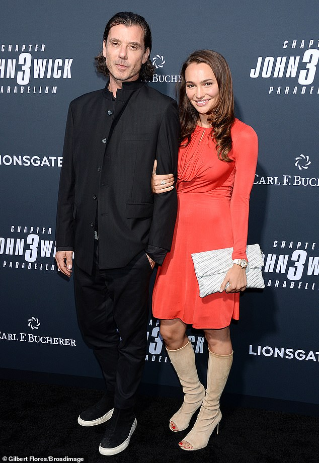 Hot pair:Gavin Rossdale, 53, looked smitten with his new girlfriend Natalie Golba, 26, at the premiere