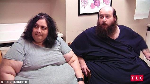 Deciding enough was enough, the couple moved from Chicago to Houston to meet Dr Younan Nowzaradan, star of the hit TLC reality show My 600lb Life. Pictured during their assessment, the medic warned the surgery was too risky and they both needed to lose weight first