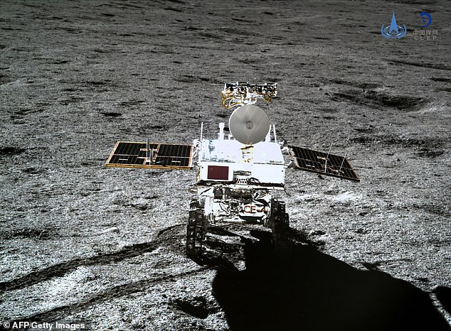 China's Chang'E-4 mission's Yutu-2 rover (pictured) has found presence of material from the moon's deep layers at its landing site on the far side of the moon. Scientists are hoping to add to their models with data from China's Chang'e4 mission