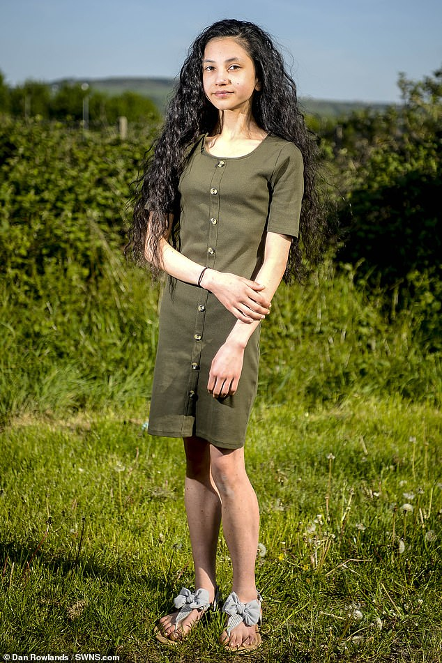 Aliya Riaz (pictured), 13, from Huddersfield, West Yorks, who was diagnosed with anorexia last year revealed that she was discouraged from eating by a leaflet during her treatment