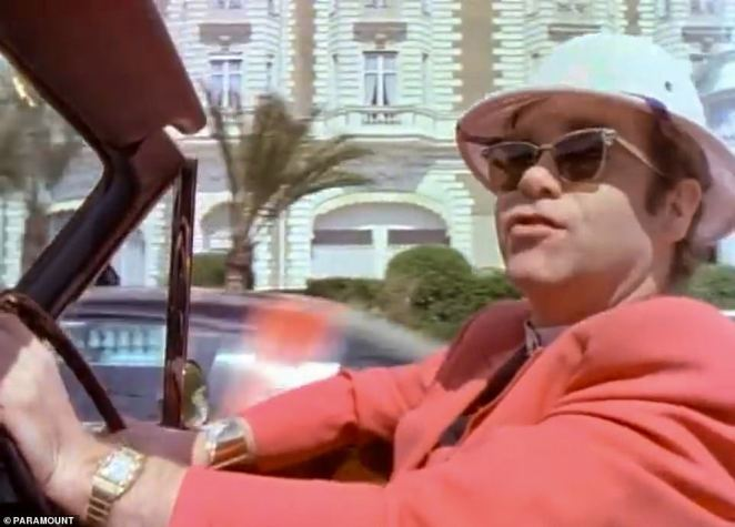 Va va voom: Elton famously drove along the beach front in the popular track and so it's no doubt a special place for him