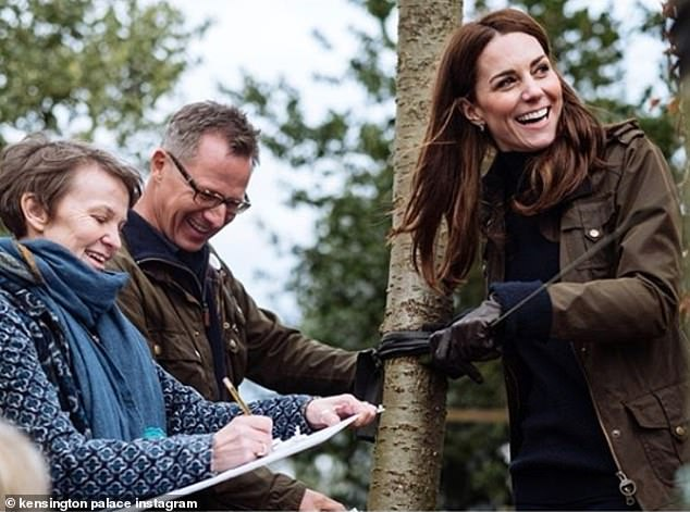 The Kensington Royal account is just ahead of them with 8.8 million, but launched years ago and has 1,792 posts - Kate Middleton is seen planning the Royal Horticultural show this year
