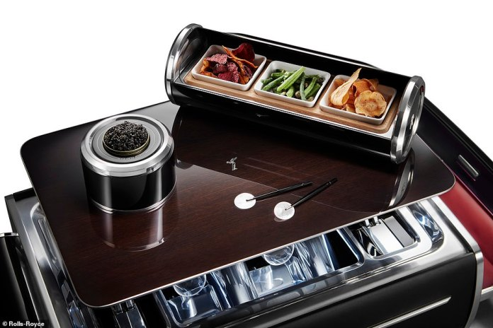 The chillers can also be converted into temperature-regulated canape holders, ideal when served with your caviar