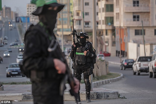The armed wing of Hamas (pictured) is responsible for the deaths of thousands of civilians in Palestine