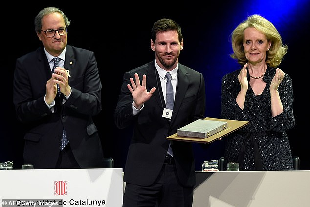 Barcelona forward Lionel Messi has been awarded with the 'Creu de Sant Jordi' for 2019