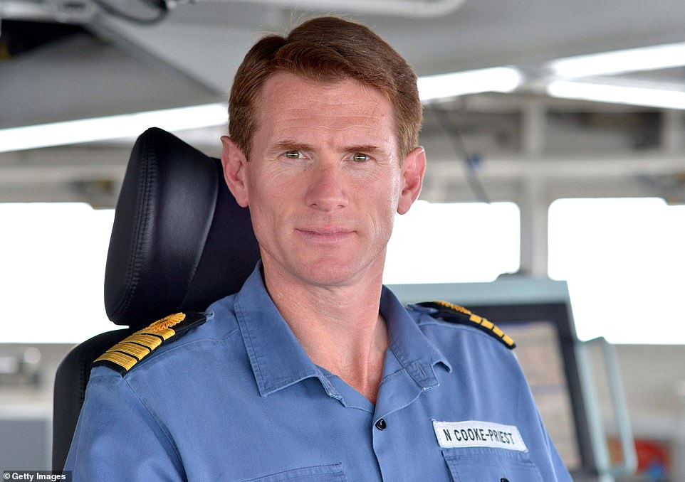 The Royal Navy confirmed that Captain Nick Cooke-Priest has been 'reassigned to a new role' but declined to say what it was