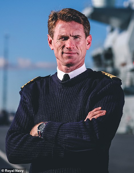 Portrait of Captain Nick Cooke-Priest OBE, who was sacked from his role as Commanding Officer of HMS Queen Elizabeth