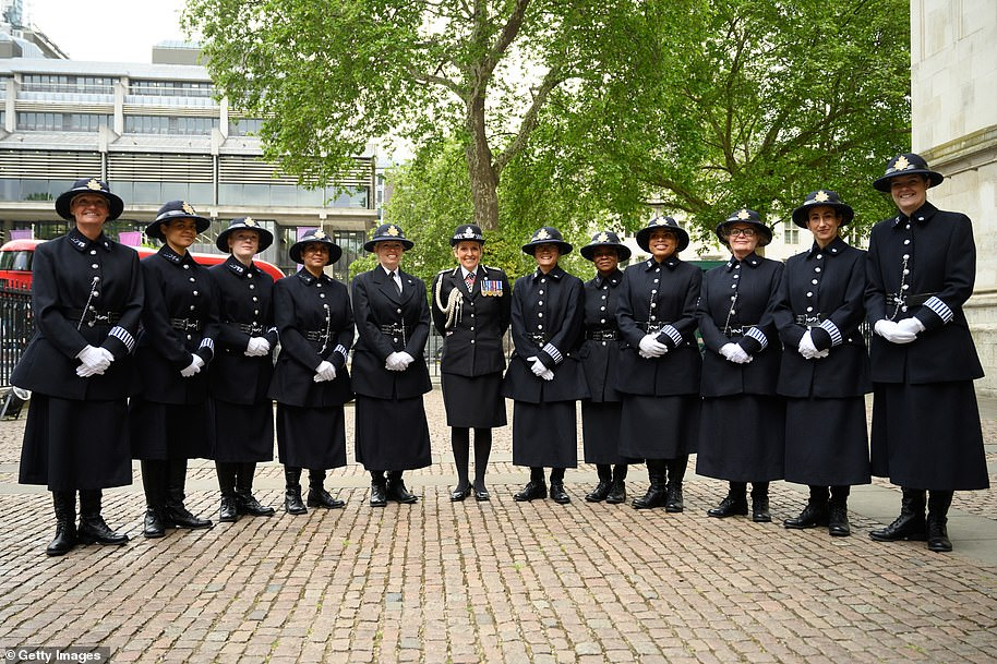 She said, 'We've got a long way to go, we're working really hard to inspire women to join us in a variety of different ways,' during a thanksgiving ceremony today to commemorate 100 years of women in the Metropolitan Police