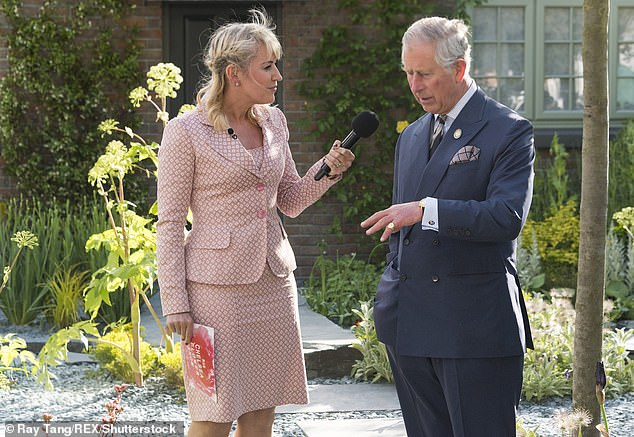 This year will be the first since 2006 that Nicki Chapman is not presenting at the RHS Chelsea Flower Show (she is pictured at the 2015 show with Prince Charles)