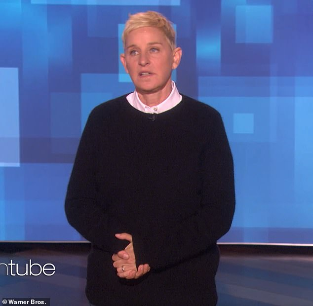 Blame game: Ellen DeGeneres, 61, announced she was sick on Friday's episode of her show and blamed Kris Jenner