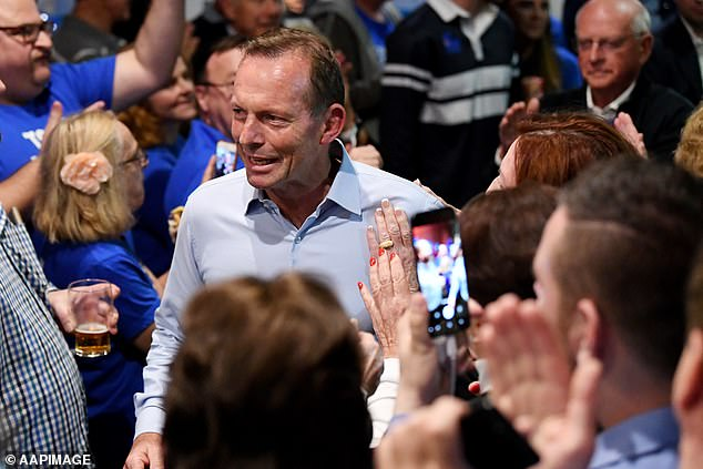 Steggall who ran as an Independent candidate ousted former Prime Minister Tony Abbott (pictured) from the Warringah seat during Saturday's vote