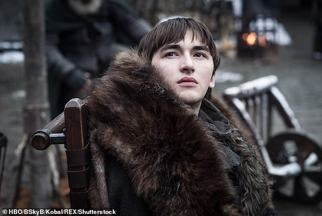 Fuming: The actor, who plays Bran Stark in the series, branded the backlash 'ridiculous' and 'absurd' and told how he was 'personally' affected by the criticism
