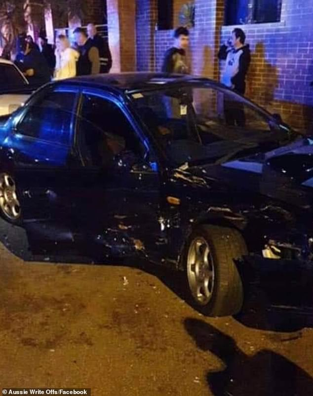However as it tried to come out of the position the driver appeared to lose control and slammed into three cars