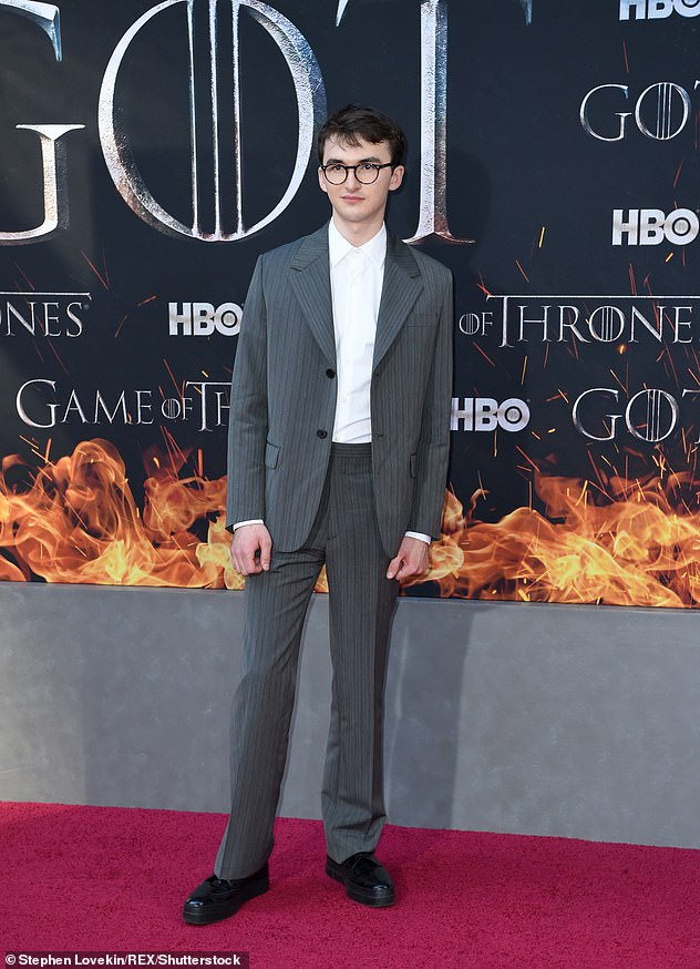 Not impressed: Game of Thrones star Isaac Hempstead has hit out at the petition to remake the final series of the hit HBO show
