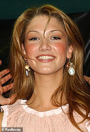 Claims: Last year, a leading plastic surgeon suggested Delta has had a nose job and had filler injected into her cheeks and lips. Pictured in 2003