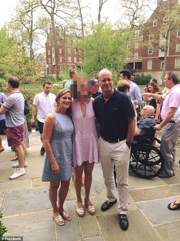 Court documents state that Mell (right), who was said to have received his pilot's license when he was 16, started talking to the girl, who is not being named, in 2017, using text messages and Snapchat