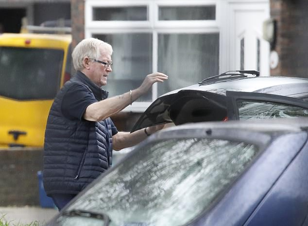 Collins, pictured near his north London home, was released from a seven-year prison sentence earlier this year after serving half. He also criticised Reader for abandoning the gang after 'spending three years' on the plan