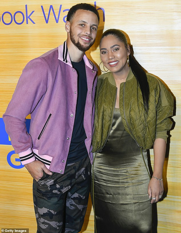 Going the distance: She and Golden State Warriors star Steph have been married since 2011