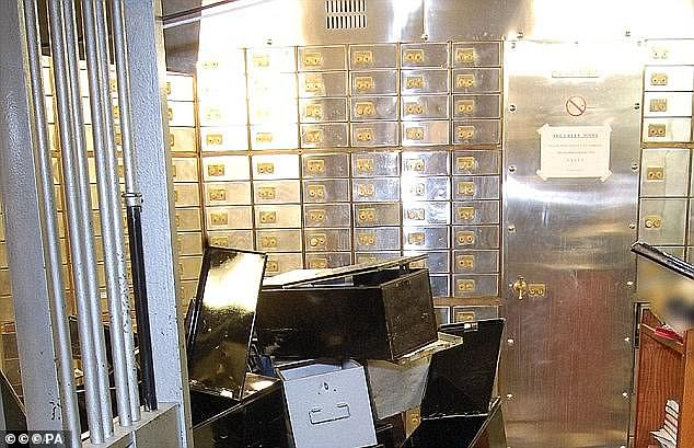 Around £14million in jewels, cash and gold was stolen from safety deposit boxes but plans were initially paused when they discovered the shelves