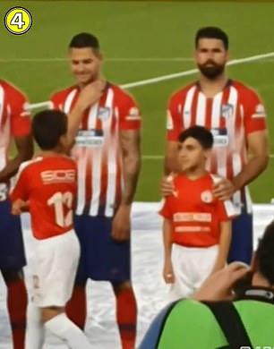 Costa feigns innocence as Vitolo smiles at youngster