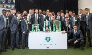 Neil Lennon talks up his Celtic players after yet another treble