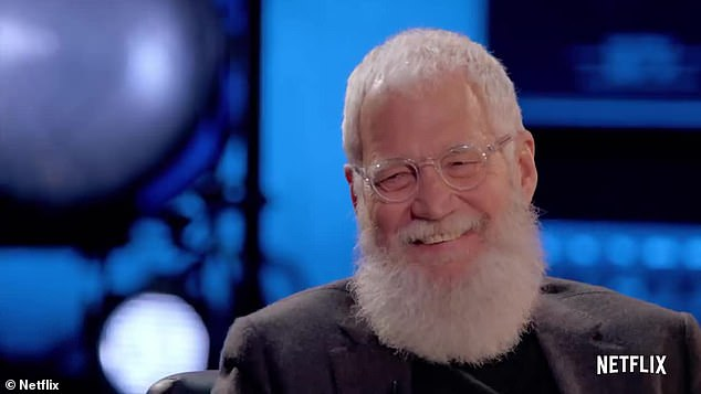 Going into it: Letterman also spoke to Kanye about his support for Trump and how he faced his mother's death