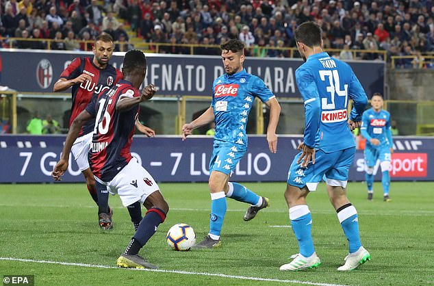 The Belgian scored on Saturday as Napoli ended Serie A season with 3-2 defeat by Bologna