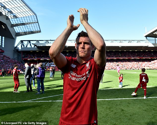 Milner will be available for free this summer with his Anfield deal soon set to expire