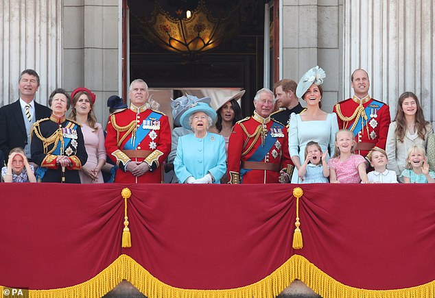 Trooping the Colour, which marks Her Majesty's official birthday, falls on Saturday 8 June this year.The celebration is attended by members of the royal family, who traditionally watch an RAF flypast from the balcony of Buckingham Palace, as seen at last year's ceremony