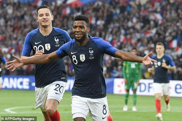 Thomas Lemar struck early on to help France to victory over Bolivia in Nantes