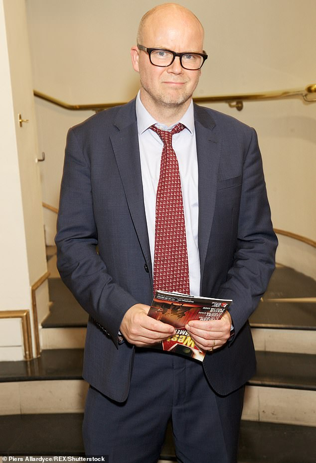 Toby Young (pictured), 55, blastedRob Lowe for criticizing Prince William's hair loss and explained why losing his own hair has been the best thing to happen to him