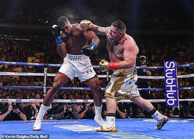 The Brit was badly disorientated during the fight and knocked down four times by Ruiz Jnr