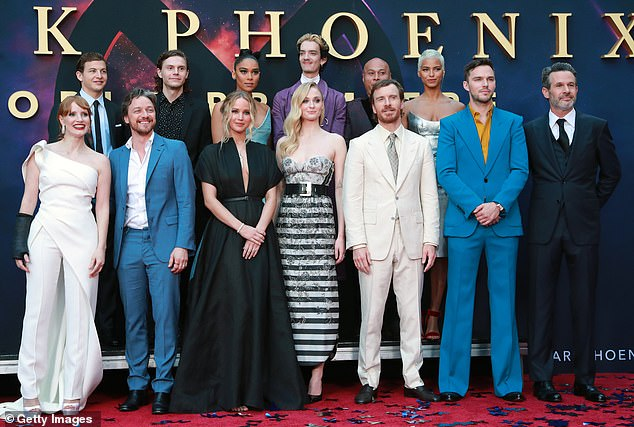 The whole gang: An impressive array of talent for Dark Phoenix