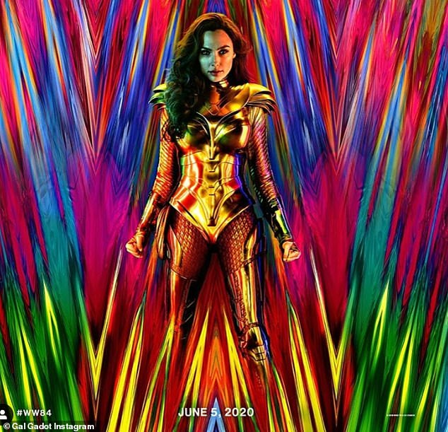 Back to the future: Gal Gadot revealed the armor for Wonder Woman 1984 via an Instagram poster shared Wednesday