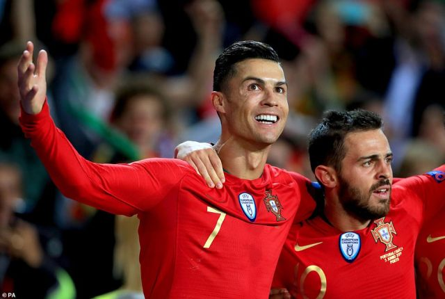 Cristiano Ronaldo scored two late goals to complete a hat-trick and ensure Portugal went through to the final